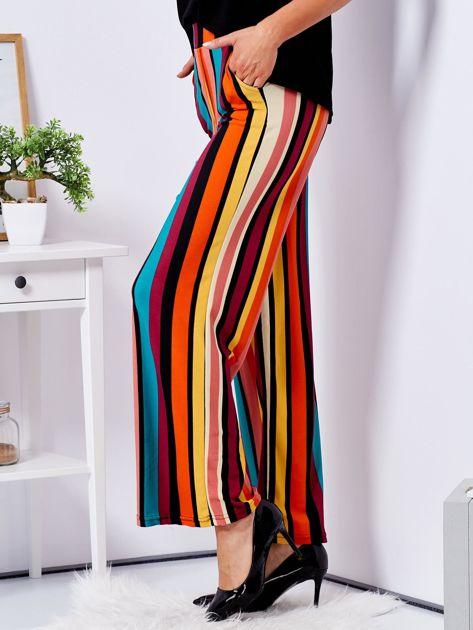 Szerokie spodnie w kolorowe pasy                              zdj.                              3