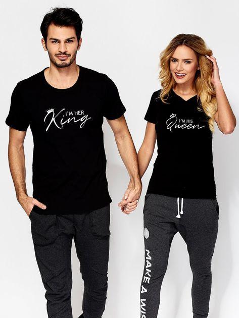 T-shirt damski czarny QUEEN                              zdj.                              3