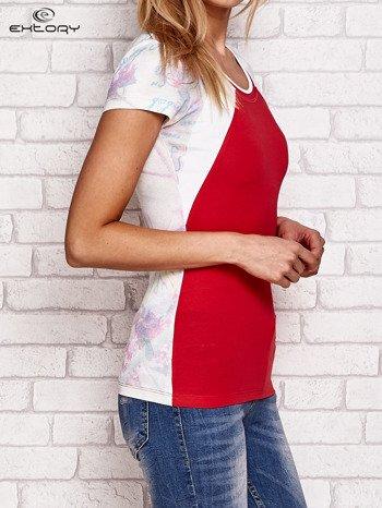 T-shirt z nadrukiem motyli koralowy                              zdj.                              3