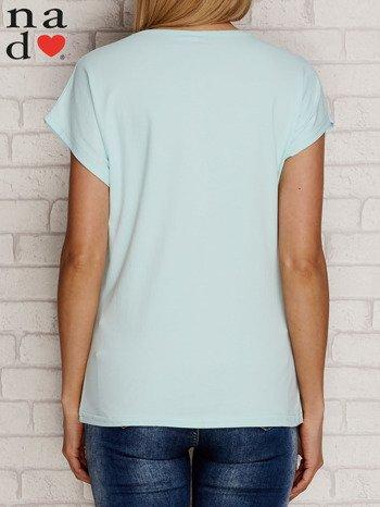 T-shirt z napisem SŁODKA WARIATKA miętowy