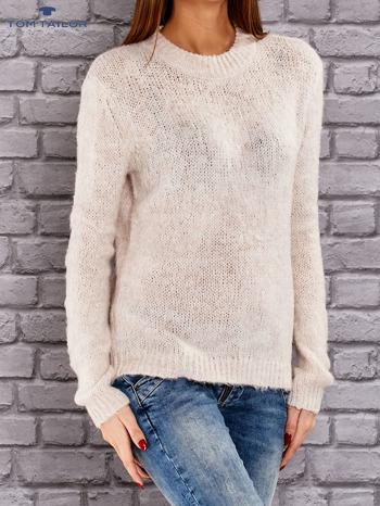 TOM TAILOR Beżowy włóczkowy sweter                                   zdj.                                  3