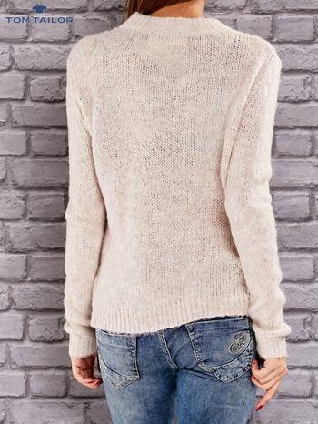 TOM TAILOR Beżowy włóczkowy sweter                                   zdj.                                  2