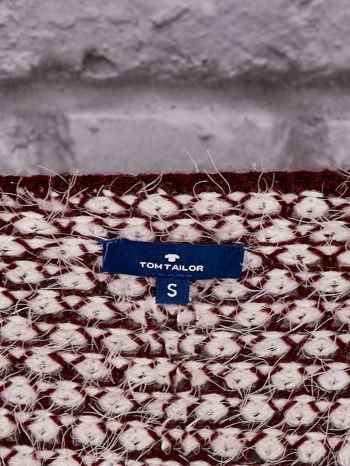 TOM TAILOR Bordowy sweter long hair                                  zdj.                                  4