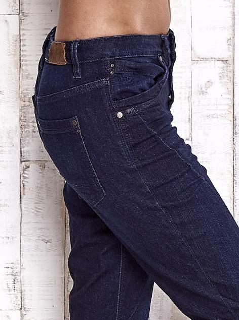 TOM TAILOR Ciemnoniebieskie modułowe spodnie jeansowe                                   zdj.                                  5