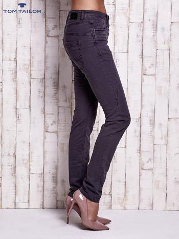 TOM TAILOR Ciemnoszare spodnie regular jeans z przeszyciami                                  zdj.                                  3