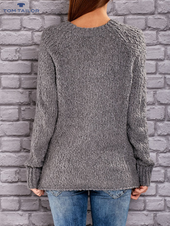 TOM TAILOR Ciemnoszary włóczkowy sweter                                  zdj.                                  3