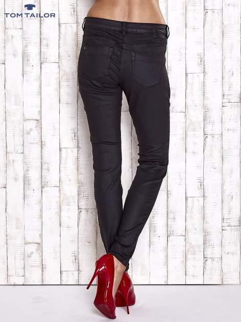 TOM TAILOR Czarne spodnie skinny z suwakami                                  zdj.                                  2