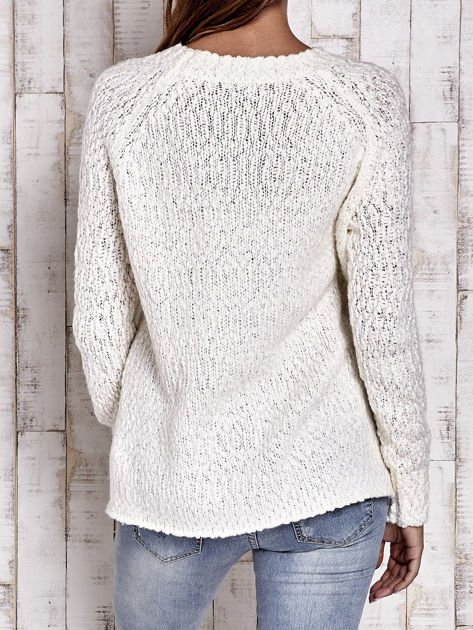 TOM TAILOR Ecru włóczkowy sweter                                  zdj.                                  3