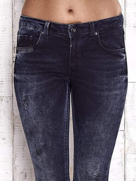 TOM TAILOR Granatowe przecierane jeansy                                  zdj.                                  4