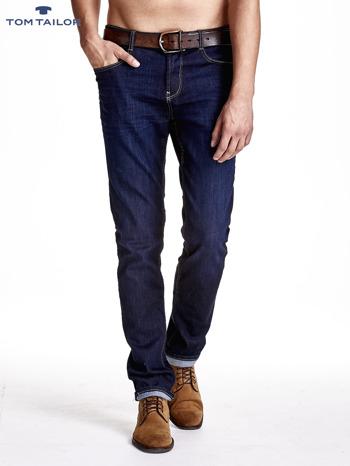 TOM TAILOR Granatowe spodnie jeansowe męskie ze stretchem                              zdj.                              1