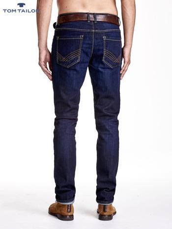 TOM TAILOR Granatowe spodnie jeansowe męskie ze stretchem                              zdj.                              3