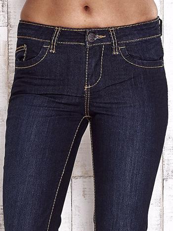 TOM TAILOR Granatowe spodnie jeansowe z prostą nogawką                                  zdj.                                  4