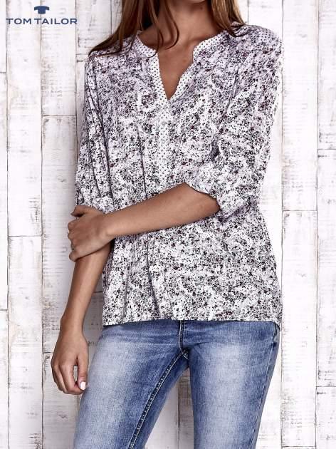 TOM TAILOR Jasnoróżowa koszula z podwijanymi rękawami wzór paisley                                  zdj.                                  1