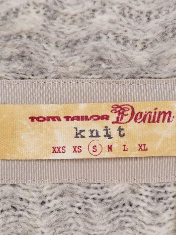 TOM TAILOR Jasnoszary sweter o geometrycznej fakturze                                  zdj.                                  4