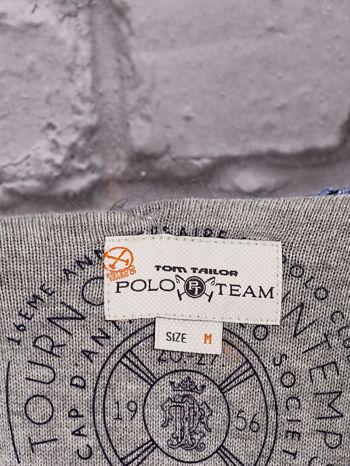 TOM TAILOR Niebieski otwarty sweter w drobne paski                                  zdj.                                  4