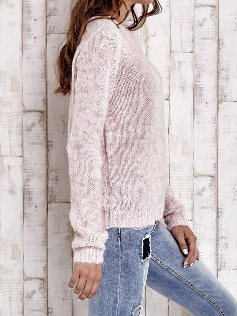 TOM TAILOR Różowy sweter z dodatkiem wełny z alpaki                                  zdj.                                  5