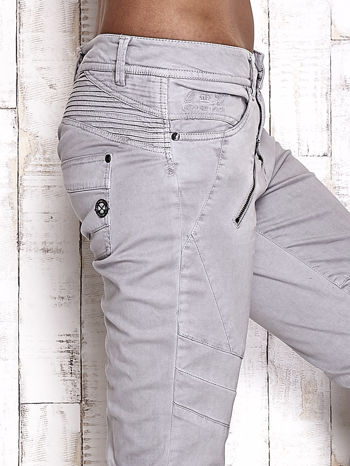 TOM TAILOR Szare materiałowe spodnie                                  zdj.                                  5