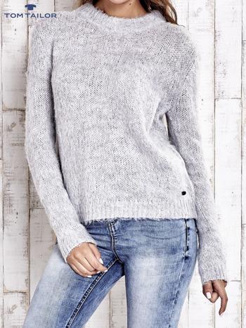 TOM TAILOR Szary sweter z dodatkiem wełny z alpaki