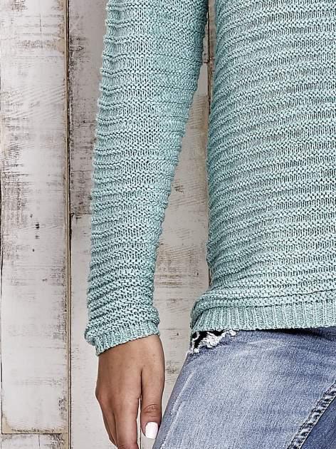 TOM TAILOR Zielony włóczkowy sweter                                  zdj.                                  7