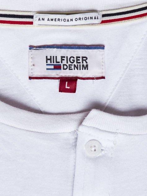 TOMMY HILFIGER Biała bluzka męska z guzikami                               zdj.                              6