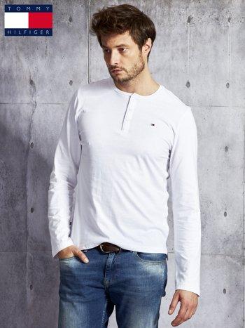 TOMMY HILFIGER Biała bluzka męska z guzikami                               zdj.                              5