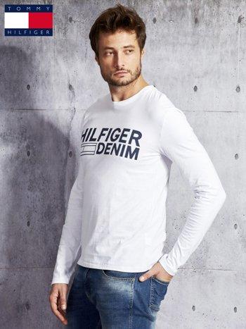 TOMMY HILFIGER Biała bluzka męska z nadrukiem                              zdj.                              5