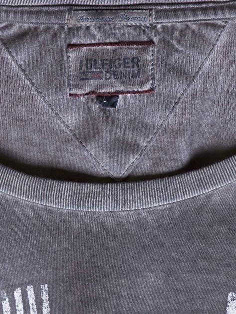 TOMMY HILFIGER Ciemnoszary dekatyzowany t-shirt męski                              zdj.                              7