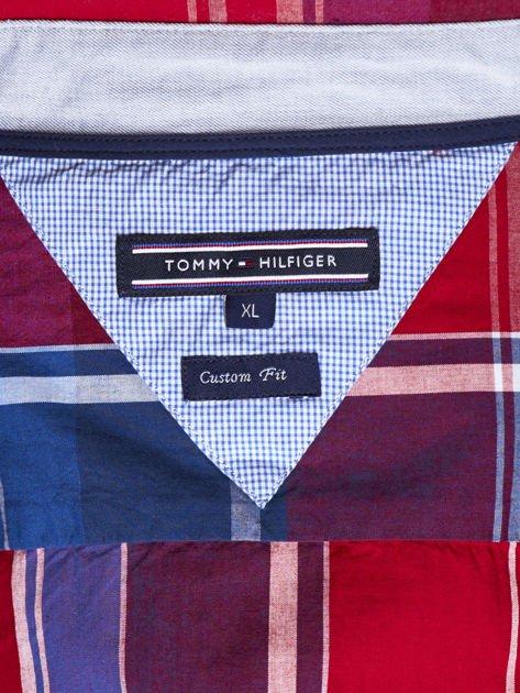 TOMMY HILFIGER Czerwona koszula męska w kratę                              zdj.                              6