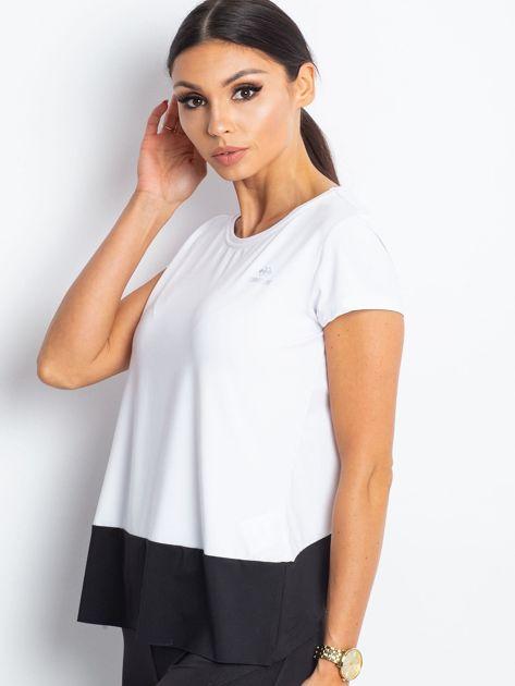 TOMMY LIFE Biało-czarny t-shirt sportowy                              zdj.                              3