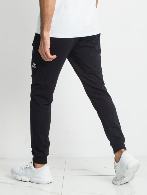 3f38da93e0cde3 TOMMY LIFE Granatowe dresowe spodnie męskie - Mężczyźni Spodnie dresowe  męskie - sklep eButik.pl