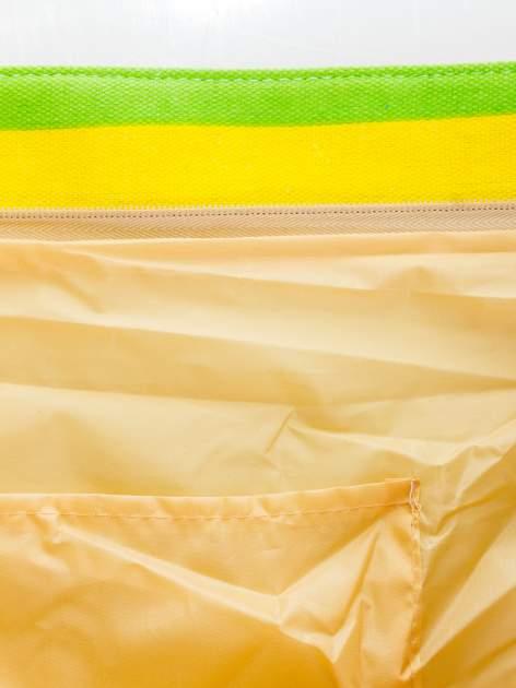 Tęczowa torba plażowa w pasy                                  zdj.                                  9