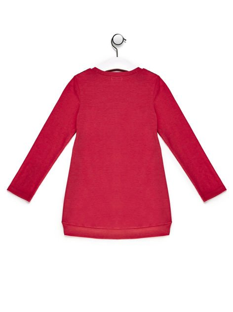 Tunika dla dziewczynki we wzory czerwona