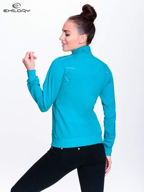 Turkusowa bluza sportowa z logo EXTORY                                  zdj.                                  4