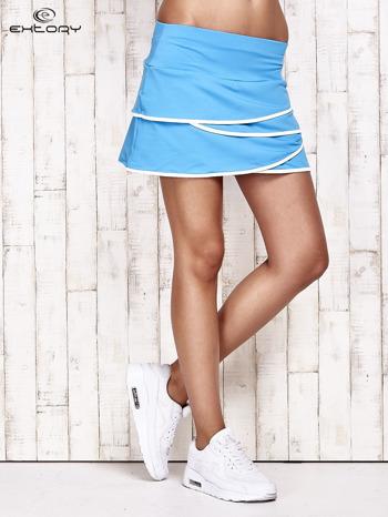 Turkusowe spodenki spódniczka tenisowa z falbankami