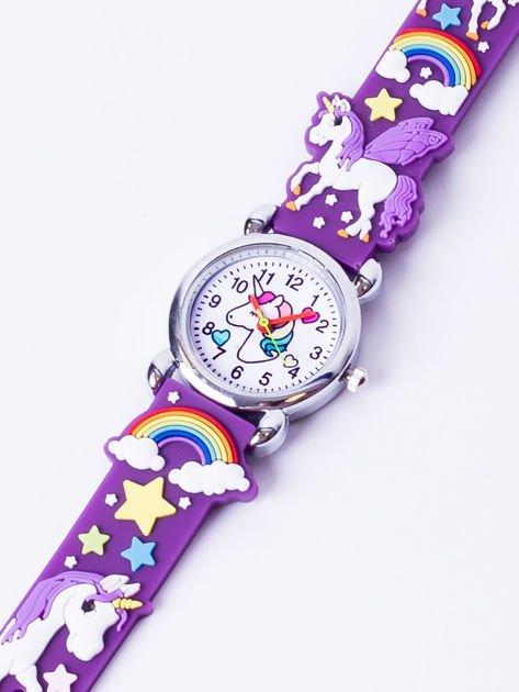 UNICORN Fioletowy Dziecięcy Zegarek JEDNOROŻEC