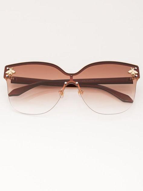 VICS Okulary przeciwsłoneczne damskie brązowe szkło brązowe dymione                              zdj.                              1
