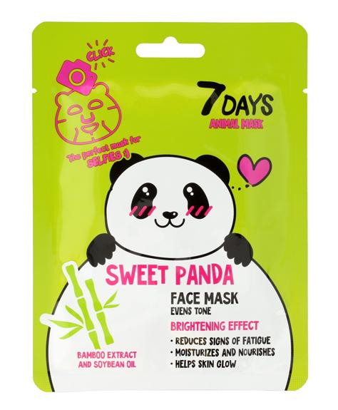 """VILENTA 7 Days Animal Maska na twarz w płacie rozświetlająca Sweet Panda 28g"""""""