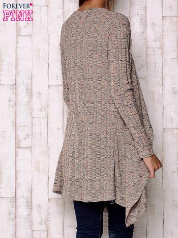Wielokolorowy sweter z otwartym dekoltem                                  zdj.                                  4
