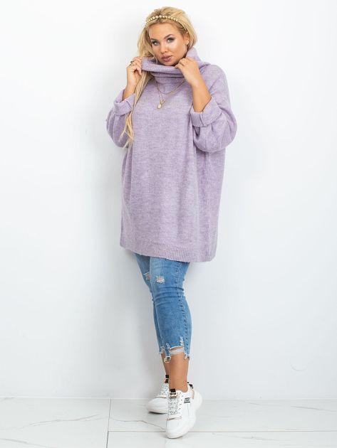 Wrzosowy sweter plus size Poline                              zdj.                              4