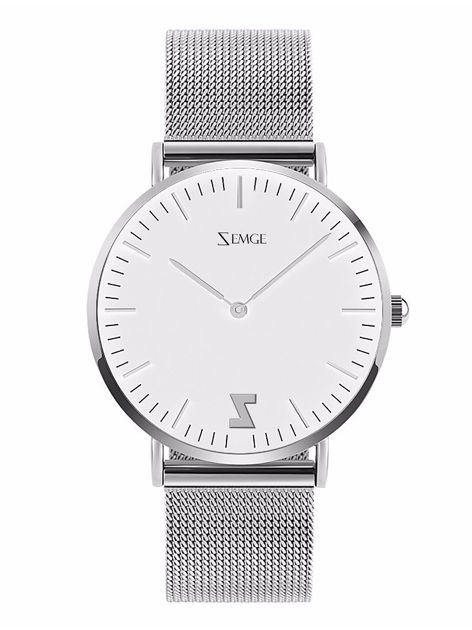 ZEMGE Zegarek damski srebrny na bransolecie typu MESH Eleganckie pudełko prezentowe w komplecie                              zdj.                              1
