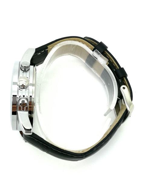 ZEMGE Zegarek unisex czarny na skórzanym czarnym pasku Eleganckie pudełko prezentowe w komplecie                              zdj.                              5