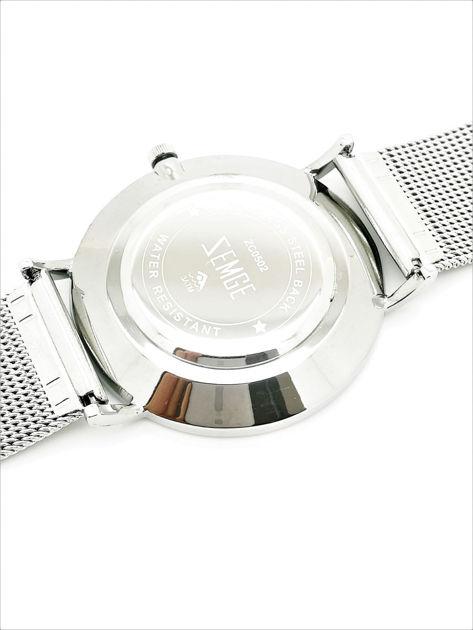 ZEMGE Zegarek unisex srebrny na bransolecie typu MESH Eleganckie pudełko prezentowe w komplecie                              zdj.                              5