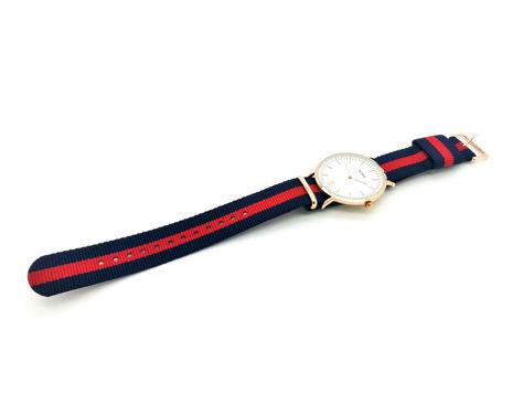 ZEMGE Zegarek unisex złoty na nylonowym pasku Eleganckie pudełko prezentowe w komplecie                              zdj.                              6