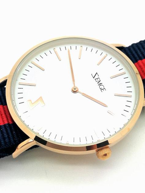 ZEMGE Zegarek unisex złoty na nylonowym pasku Eleganckie pudełko prezentowe w komplecie                              zdj.                              3