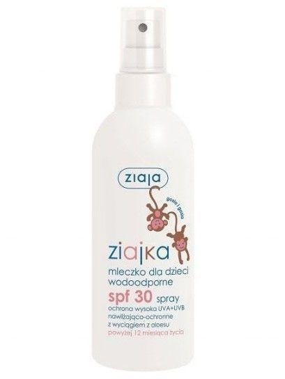 ZIAJA Ziajka Mleczko dla dzieci SPF 30 wodoodporny spray  170 ml                              zdj.                              1