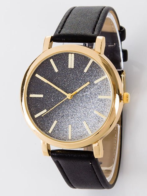 GLITTER OMBRE czarny zegarek damski                                  zdj.                                  1