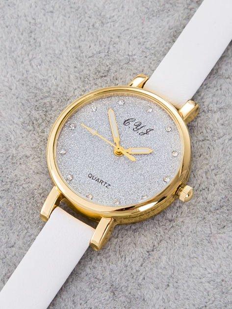Zegarek damski glitter biały                                  zdj.                                  3