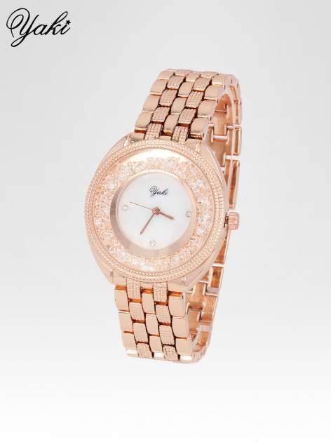 Zegarek damski na bransolecie z różowego złota                                  zdj.                                  2
