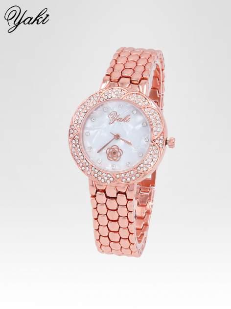 Zegarek damski z cryrkoniową kopertą w kolorze różowego złota                                  zdj.                                  2