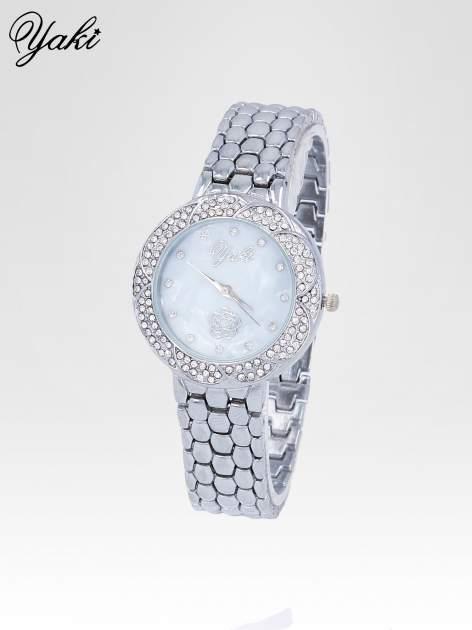 Zegarek damski z cryrkoniową kopertą w kolorze srebra                                  zdj.                                  2